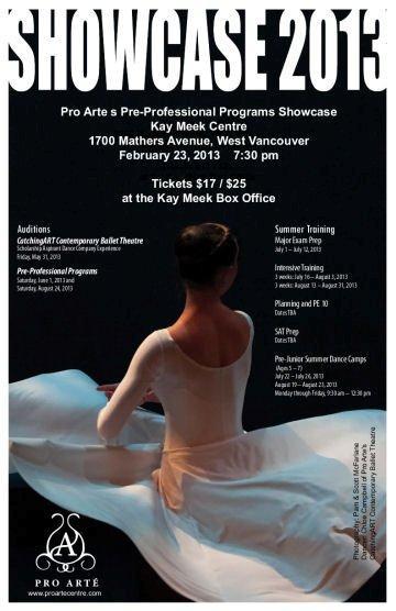 2013 Showcase Poster